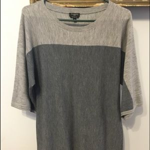 Talbots 2 tone gray dress